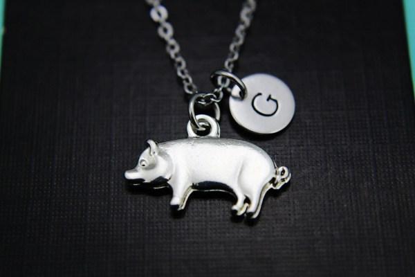 Pig Necklace Pendant Charm Animal