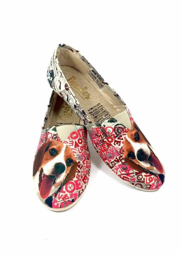 Beagle Shoes Women Dog Lovers