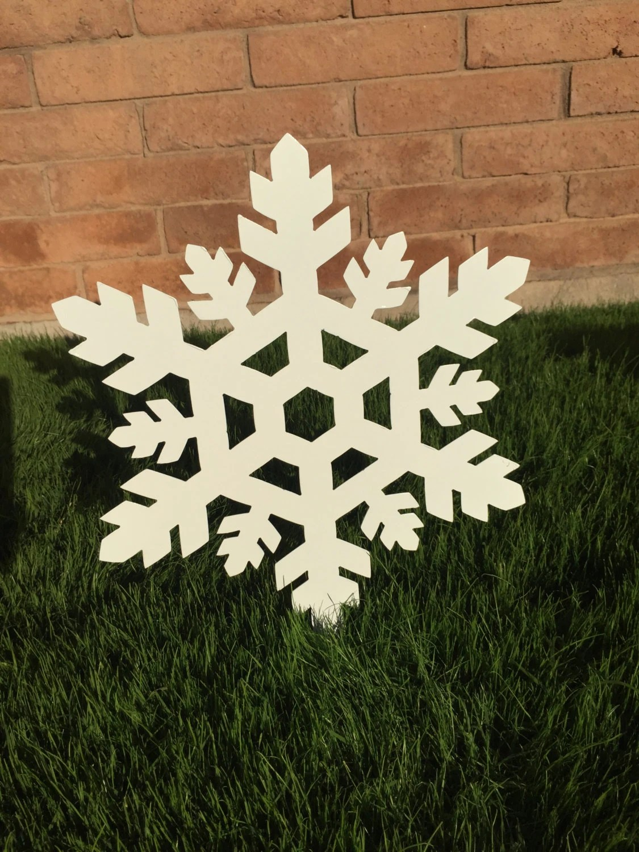 Snowflake 05 Metal Yard Art Christmas Decor Lawn