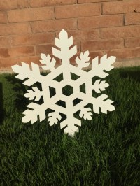 Snowflake 05 Metal Yard Art Christmas Decor Lawn