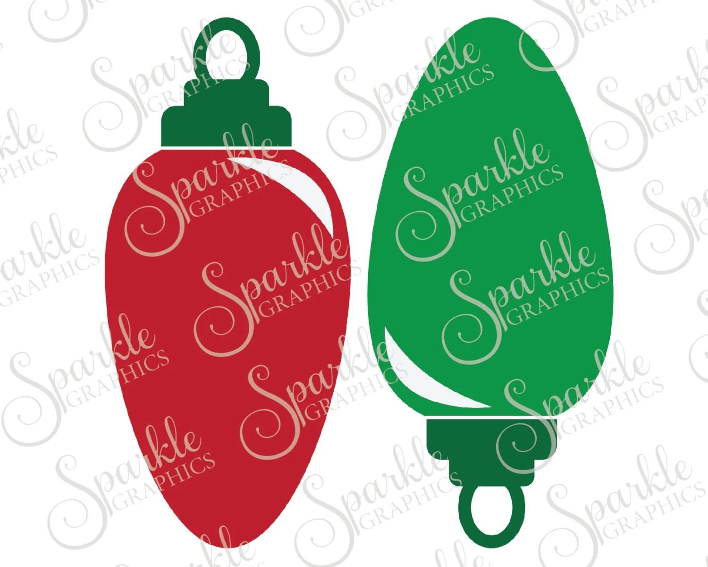 Christmas Light Bulb Cut File Christmas Xmas Christmas Svg