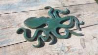 Wooden Wall Art Sculpture Octopus Sealife Beach House Wall Art
