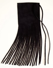 black suede leather hair wrap native