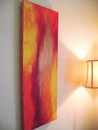 Abstract Wall Art Orange Burgundy Wine Raspberry Gold PASSION