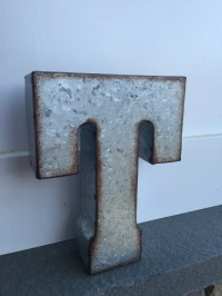 Metal Letters/ Wall Decor/ Wall Metal Letter/ Galvanized