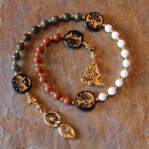 Moon Goddess Pagan Prayer Beads Rosary Wiccan - Year of
