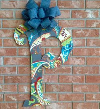Front Door Letter Door Hanger Home Decor by TheRedWoodBarn ...