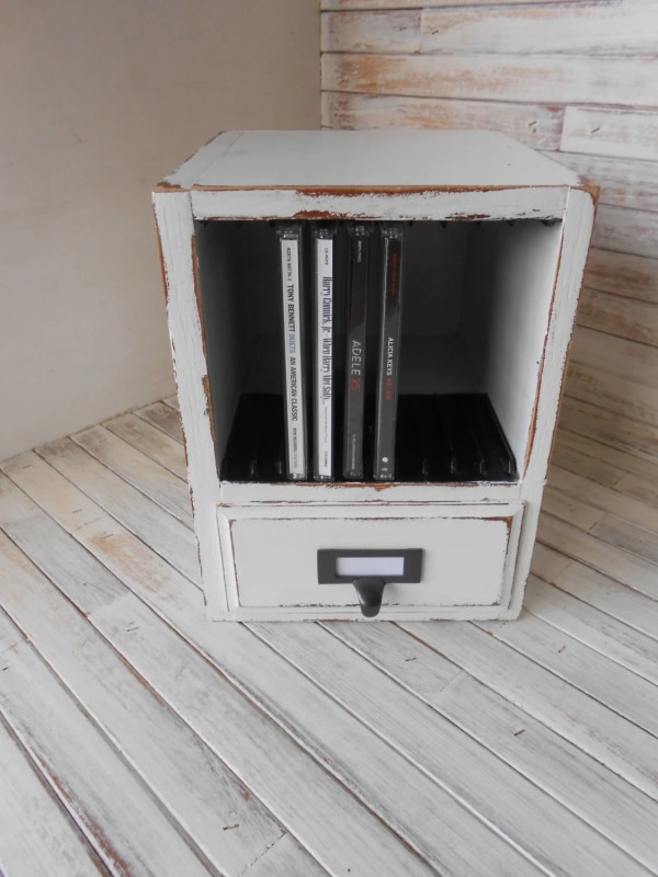 Wood Cd Storage Organizer 10 Box Music