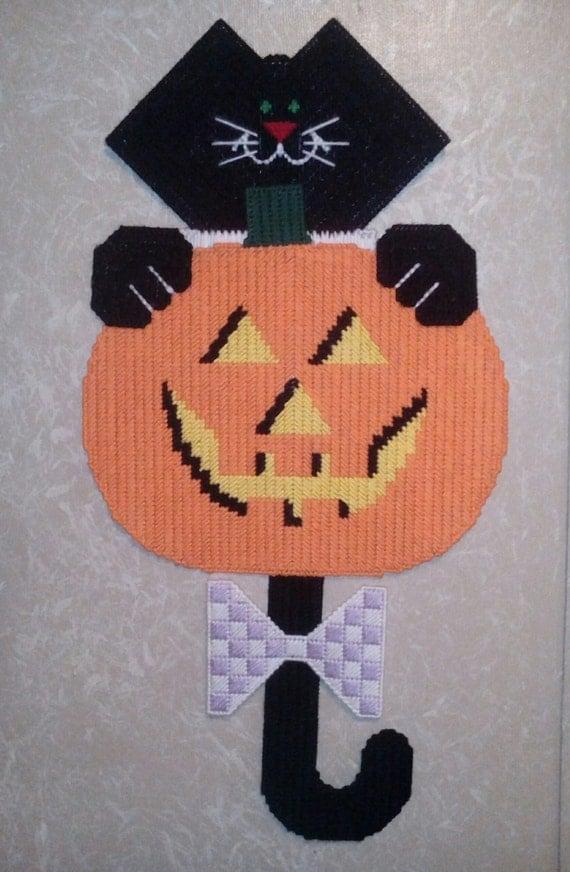 Halloween Black Cat Door Hanging / Pumpkin Door Decoration/