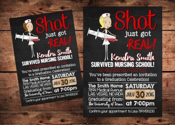 Original Shot Real Nurse Graduation Invitation