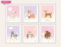 Girls Woodland Nursery Decor Baby Animal Nursery Pretty
