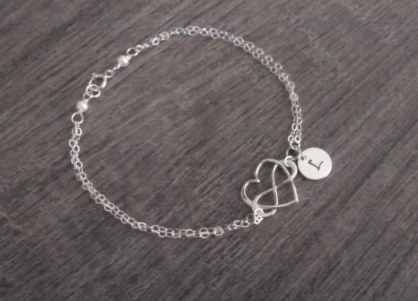 Personalized Infinity Heart Bracelet Infinit Bracelet with