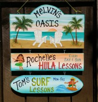 Custom Pool Oasis Backyard Sign Yard Beach Summer Sign