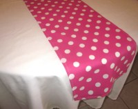 Black and White Polka Dot Table Runner Minnie Mouse