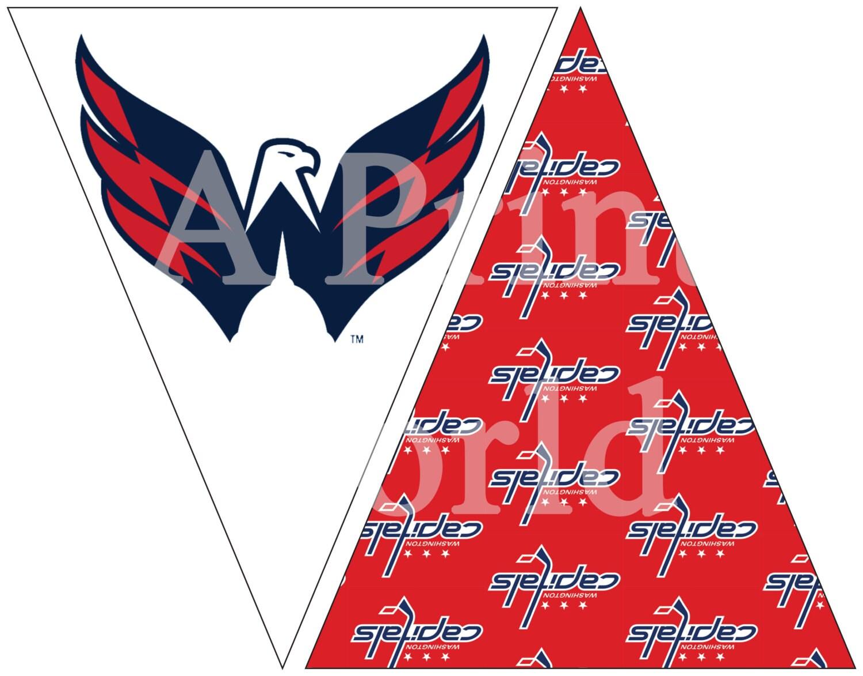 Washington Capitals Hockey Printable Flags Easy Party