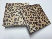Leopard Print Coasters Cheetah Print Home Decor Drink