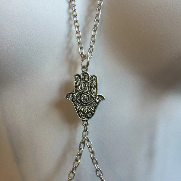 Pierced Neck Nipple Chain With Dangles Noose