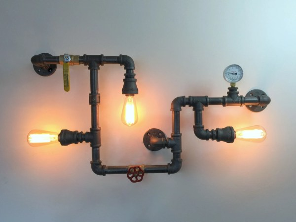 Industrial Wall Light Pipe Sconce Art