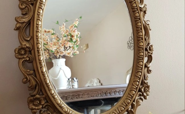Vintage Ornate Oval Mirror Mirror Wall Decor Home Decor