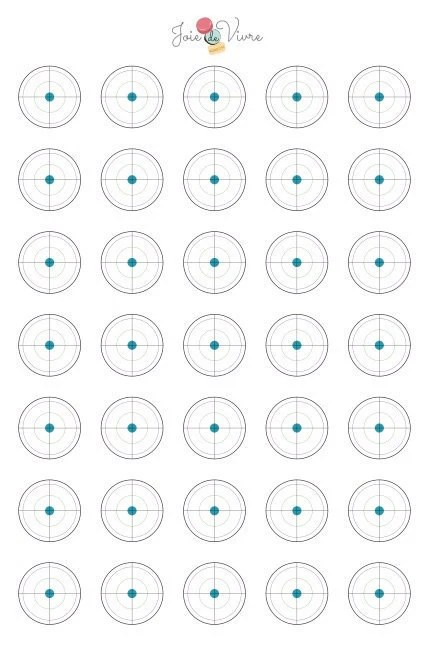 Downloadable Macaron Piping Template use 11 x 17