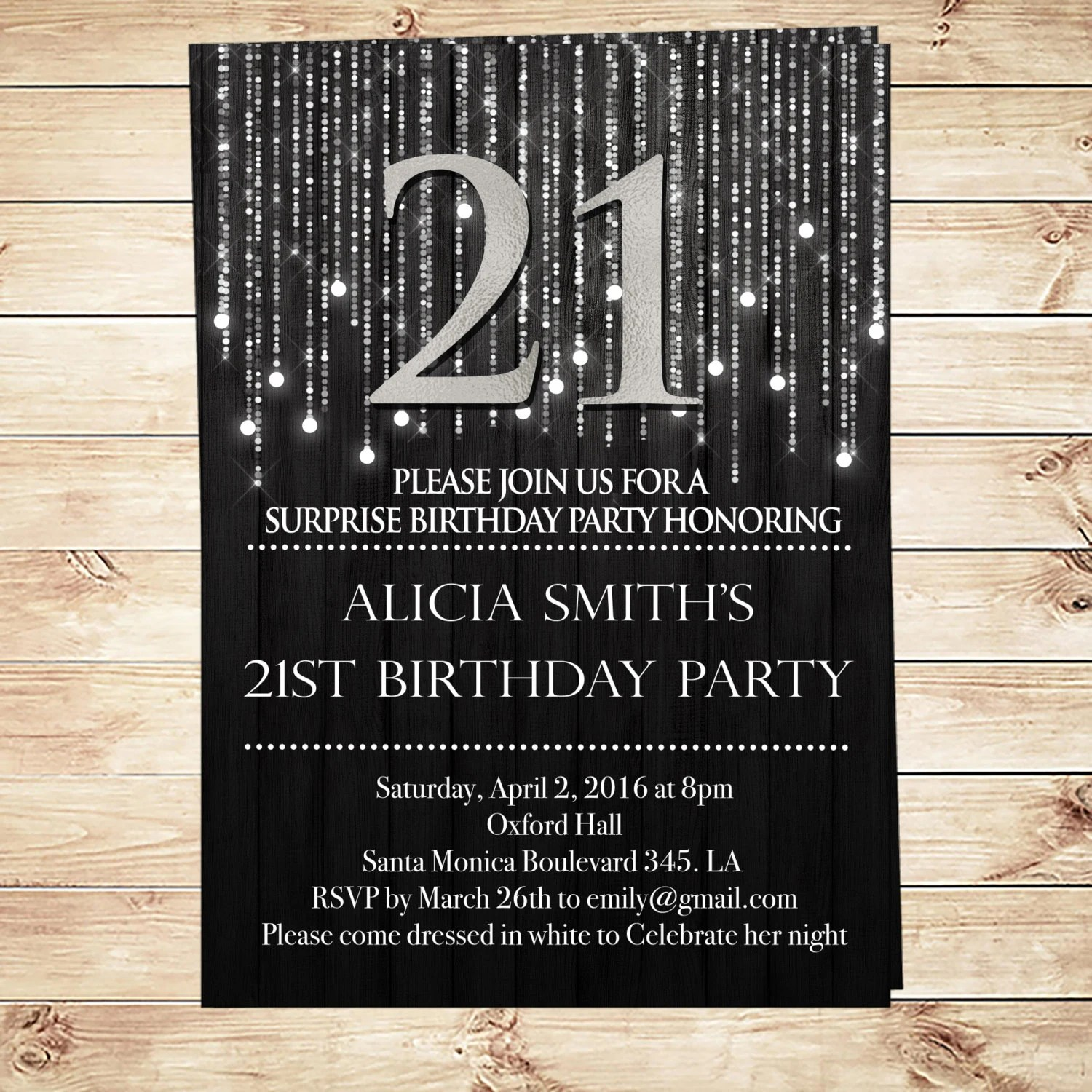 Items Similar To Elegant Black And Silver 21st Birthday