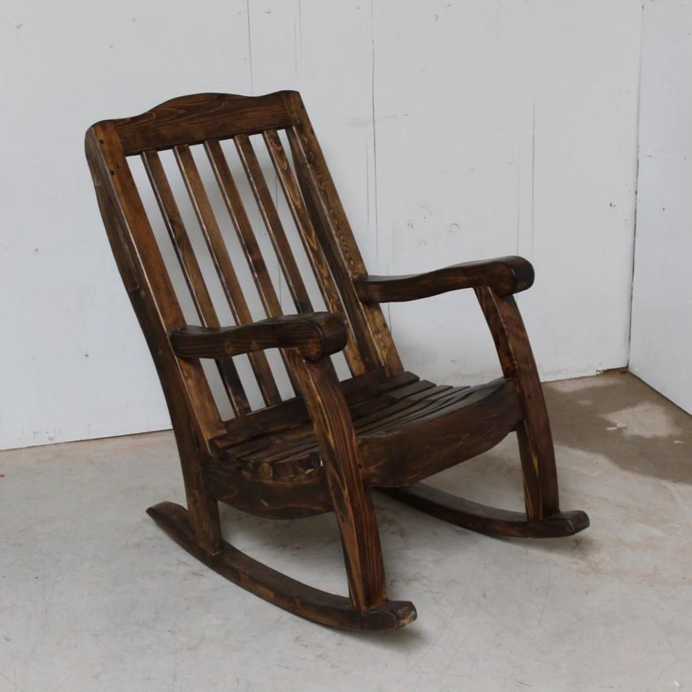 Rocking Chair Rustic Southwestern Handmade Pine Wood Old