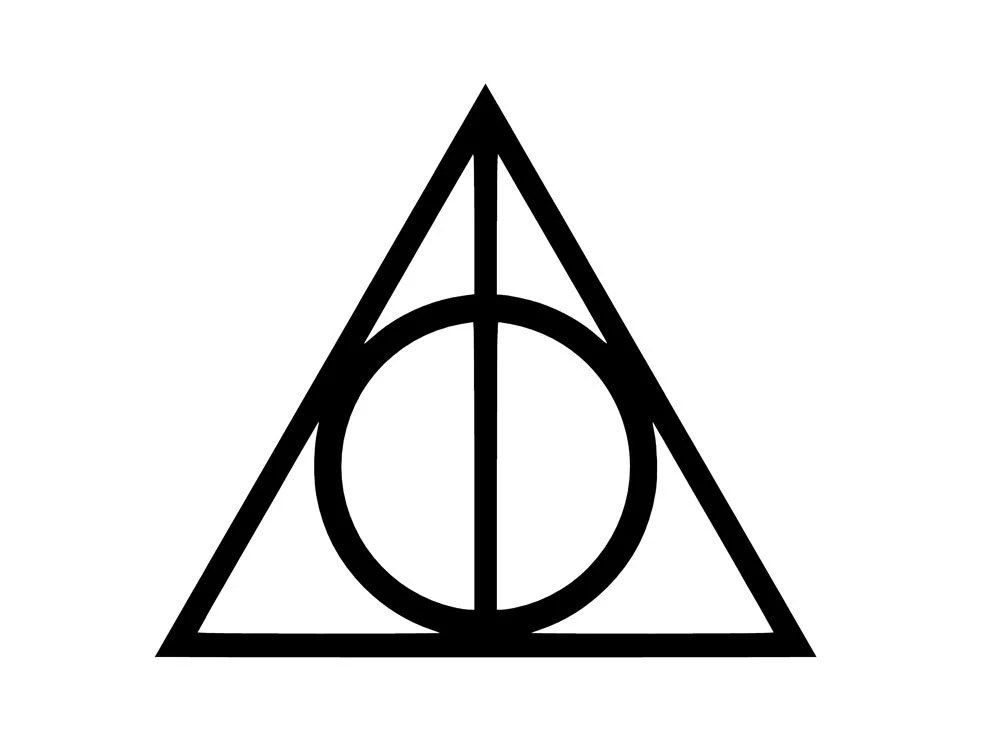 The Deathly Hallows insignia from 'Harry Potter And The