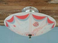 Vintage Rewired Nursery Playroom Light Fixture Flush Mount