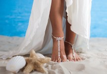 Beach Wedding Foot Jewelry Beaded Bridal Barefoot Sandals