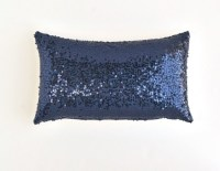 Navy Lumbar Pillow Cover Navy Blue Sequin Pillow 12