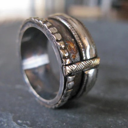 Viking Ring Mens Wedding Band Viking Wedding Ring Unique Mens