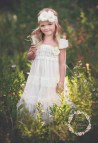 Ivory Lace Flower Girl Dress Vintage