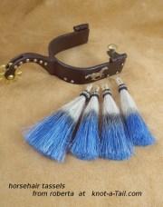 dip dye horse hair tassels bright