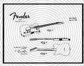 Items similar to Fender Guitar Patent SVG on Etsy