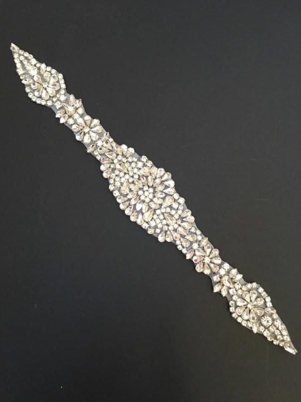 Crystal Rhinestone Applique Bridal Trim Style