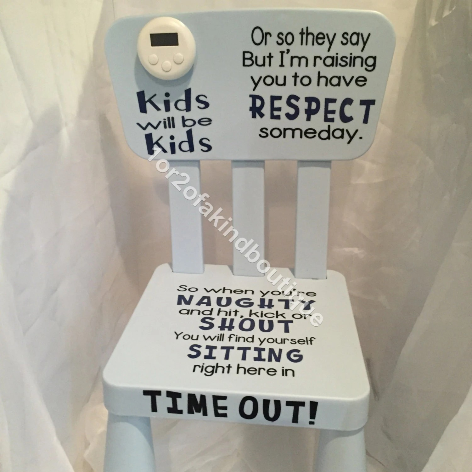 kids time out chair prouve standard replica personalized naughty word options in