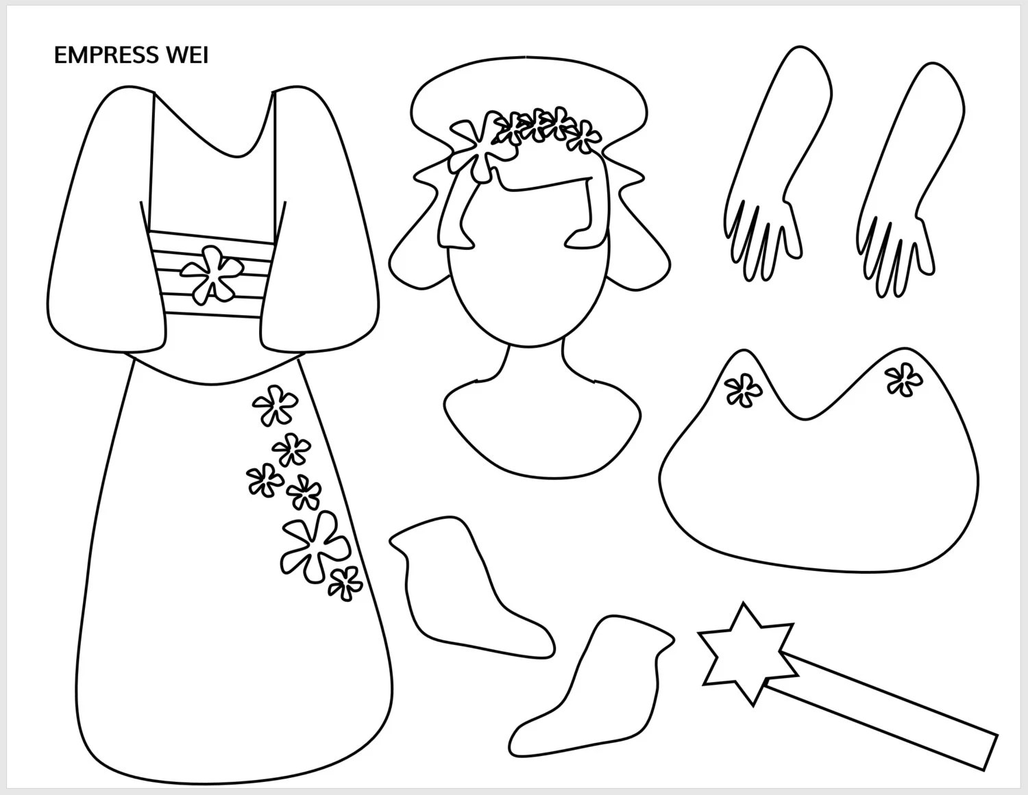Paper Bag Princess Sketch Coloring Page