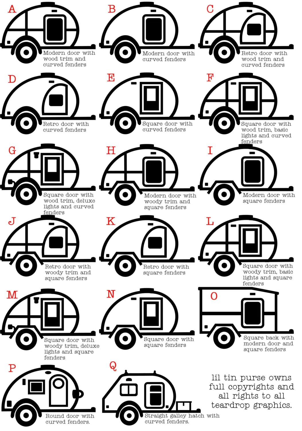 Teardrop Trailer Vinyl Graphic Decal Teardrop Camper Tab