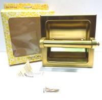 Gold Recessed Toilet Paper Holder Vintage 1970s Miami Carey