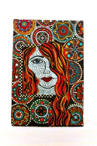 Stained Glass Mosaic Mural/ Women Art/ Wall Hanging/ Glass Art