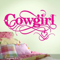 Cowgirl Wall Decal Cowgirl Decor Girls Room Vinyl Decal