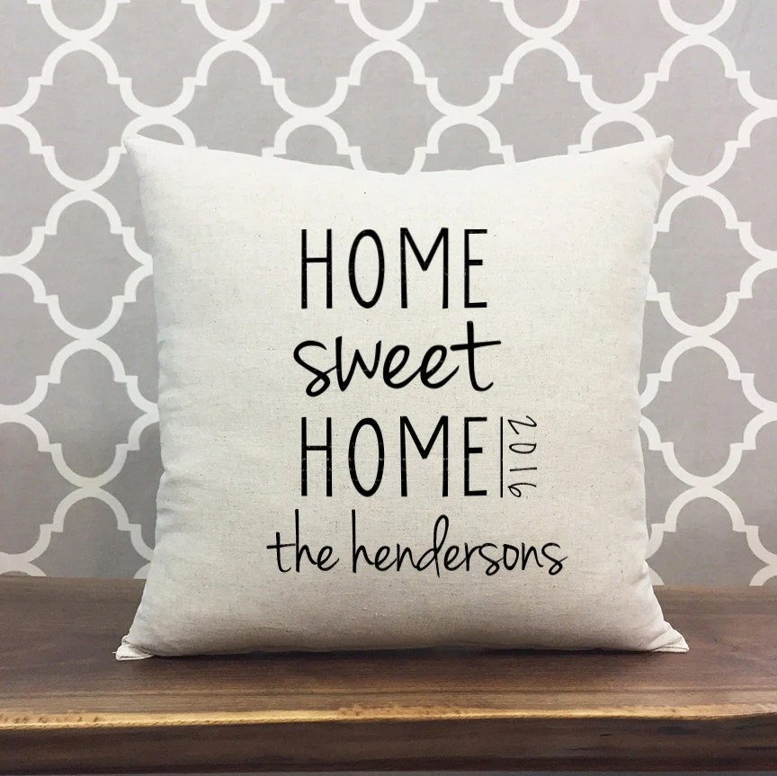 Sweet Home Pillow Etsy