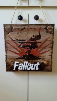 Fallout pyrography wall art painting by brittsrose on Etsy