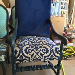 Dark Blue Velvet Accent Chair Wooden Folding Table And Chairs Set Large Dining Room