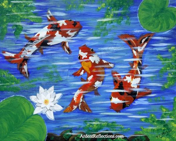 Koi Fish Decor Home Art