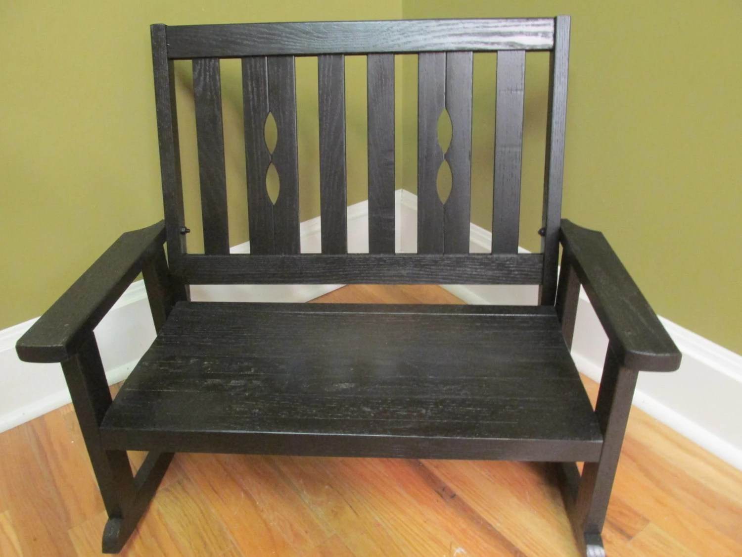 Double Rocking Chair Child 39s Double Rocking Chair Oak Painted Black