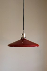 Pendant Light Fixture 12 Red Vintage Industrial Shade