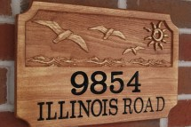 Custom Outdoor Signs Raised Address Sign