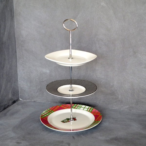 3 Tier Plate Stand Tiered Cake Mini