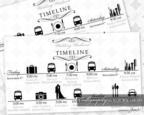 DIY Printable Wedding Timeline Template Printable Wedding